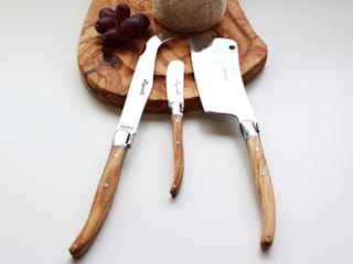 3 Piece Olive Wood Handled Cheese Knife Set:   by The Rustic Dish
