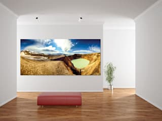 Víti-Krater und Öskjuvatn in der Caldera der Askja:  Kunst  von DigitalArt Sabine Bieg
