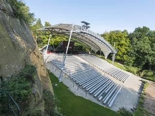 Textile Überdachung/Membrandach Freilichtbühne Bad Bentheim:  Veranstaltungsorte von LINDSCHULTE Ingenieure + Architekten