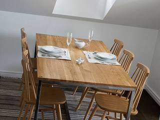 Stół, biurko, Industrial Dining Oak od projekt drewno Industrialny
