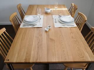 Stół, biurko, Industrial Dining Oak od projekt drewno Skandynawski