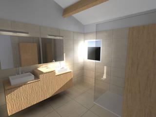 Salle de Bain Mme B ( Travaux en cours ) Salle de bain moderne par In'Situ Moderne