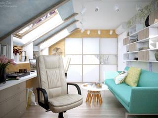 Mediterrane Arbeitszimmer von Студия интерьерного дизайна happy.design Mediterran