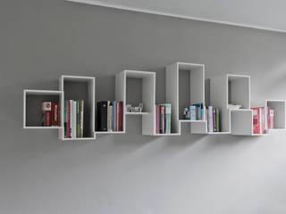 Skyline bookshelve:   door Nick Ronde Ontwerpen