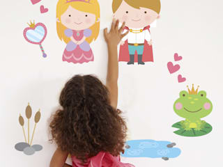 Fairytale Princess And Prince Fabric Wall Stickers: modern  by SnuggleDust Studios, Modern