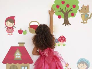 Fairytale Little Red Riding Hood Fabric Wall Sticker:   by SnuggleDust Studios
