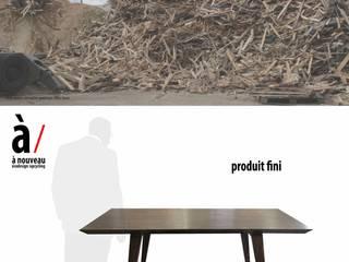 Table / Bureau rétro et écologique:  de style  par à nouveau -écodesign/upcycling-