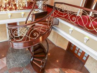 ST433 Spiralne schody gięte / ST433 Spiral Curved Stairs Trąbczyński Koridor & Tangga Klasik