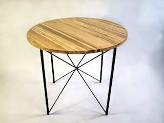 "Steel and oak wood kitchen table ""COPENHAGEN"" de NordLoft - Industrial Design Escandinavo"