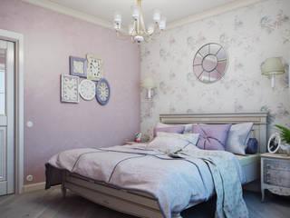 Дизайн-проект 4-х комнатной квартиры, г. Москва: Спальни в . Автор – Анна Теклюк