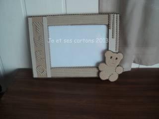 Cadre photo de naissance en carton:  de style  par Jo et ses Cartons