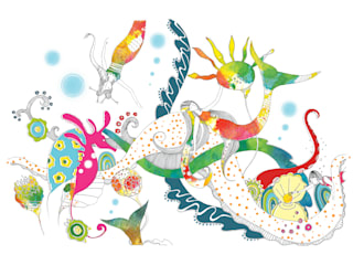 Diving in Mermaid Lagoon - A3 - Limited Edition Giclee Art Print:   by Sas and Yosh