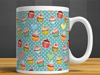 iF Dizayn Tasarım Ürünleri – iF Dizayn Cupcake Baskılı Seramik Kupa:  tarz