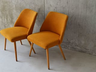 Pair of 1950's vintage French boulcè wool chairs Proper. Living roomStools & chairs