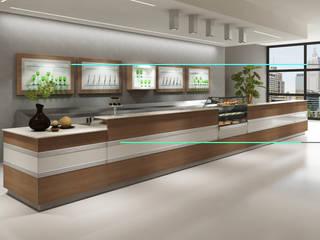 Banco bar cm 300 - base retro e base retro m.caffe - pedana di TORINO ARREDA CONTRACT Moderno