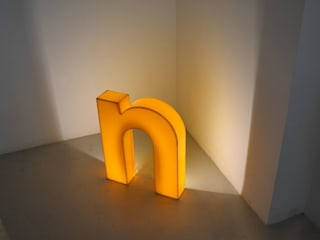Very large (70cm height) illuminated yellow perspex shop letters Proper. Living roomAccessories & decoration