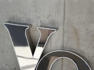 'Yo.' chrome letters Proper. Office spaces & stores