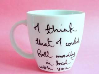 HAPPY PINK My Mug Company KuchniaSztućce, naczynia i szkło