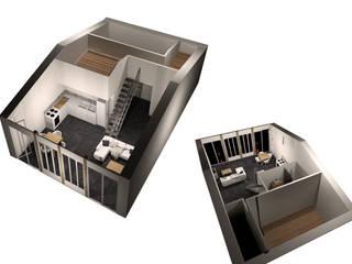 Maisons Particulières Salle à manger moderne par Sandra & Milena Design Moderne