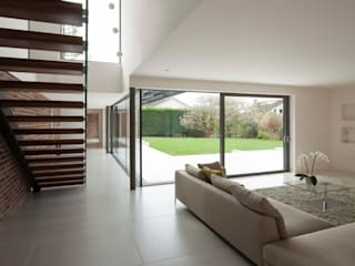 Private House, Cardiff LOYN+CO ARCHITECTS Corredores, halls e escadas modernos