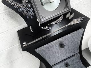Diabolo spirales - noir/argent L'armoire en carton SalonEtagères