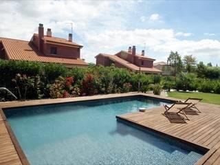 Chalet de obra vista Casas de estilo mediterráneo de metric arquitectes Mediterráneo