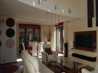 Salas / recibidores de estilo  por Art&Design Studio Projektowe Kinga Śliwa