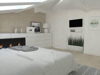 Chambre moderne par WNĘTRZNOŚCI Projektowanie wnętrz i mebli Moderne