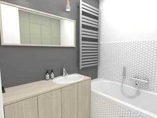 Ванные комнаты в . Автор – WNĘTRZNOŚCI Projektowanie wnętrz i mebli, Модерн