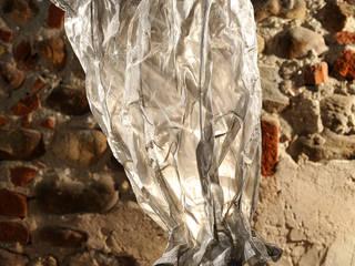 Lampada da tavolo inox:  in stile  di SPAZIO CASA DI CISARI SABINA