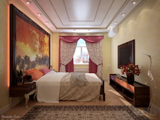 Colonial style bedroom by Студия интерьерного дизайна happy.design Colonial