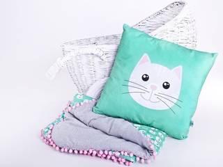 Kotek szary z poduchą : styl , w kategorii  zaprojektowany przez Ma Zo Kreacja