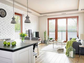 Salones de estilo  de ZEN Interiors - Architektura Wnętrz