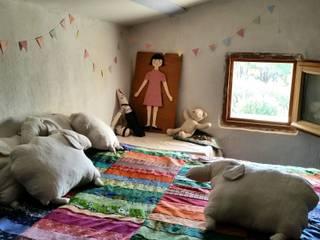 des moutons en lin dans une chambre d'enfant:  de style  par Léo et Léonie