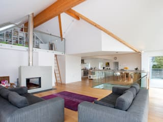 Contemporary Home, Bude, Cornwall Soggiorno moderno di The Bazeley Partnership Moderno