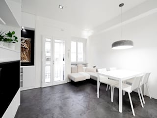 Minimalistische woonkamers van 23bassi studio di architettura Minimalistisch