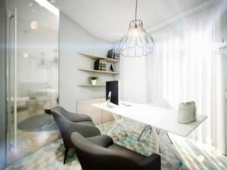 Minimalist study/office by homify Minimalist