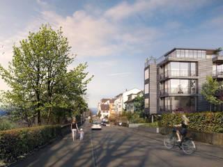 Dreifamilienhaus Promenadenstrasse Rorschach Moderne Häuser von aarchitektur Rebecca Inauen Modern