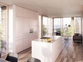 Dreifamilienhaus Promenadenstrasse Rorschach Minimalistische Wohnzimmer von aarchitektur Rebecca Inauen Minimalistisch