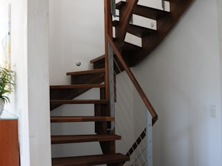 Modern corridor, hallway & stairs by Dammann-Haus GmbH Modern