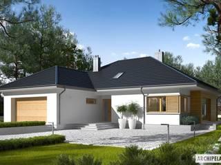 Projekt domu Marcel III G2 : styl , w kategorii Domy zaprojektowany przez Pracownia Projektowa ARCHIPELAG,Nowoczesny