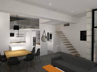 Rénovation d'un duplex et extension au coeur de Bordeaux Salon minimaliste par Agence Ideco Minimaliste