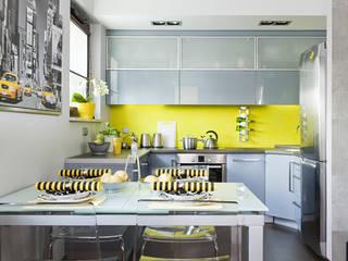przytulne 40 m2: styl , w kategorii Jadalnia zaprojektowany przez ZIZI STUDIO Magdalena Latos