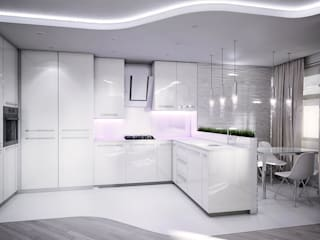 AFTER SPACE Minimalist kitchen