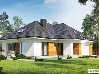 Projekt domu Olaf G2 ENERGO PLUS Nowoczesne domy od Pracownia Projektowa ARCHIPELAG Nowoczesny
