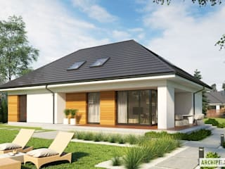 Projekt domu Olaf G2 ENERGO PLUS : styl , w kategorii Domy zaprojektowany przez Pracownia Projektowa ARCHIPELAG,Nowoczesny