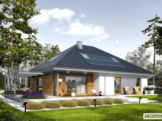 Projekt domu Astrid II G2: styl , w kategorii Domy zaprojektowany przez Pracownia Projektowa ARCHIPELAG,Nowoczesny