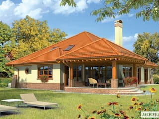 Projekt domu Seweryna G2 : styl , w kategorii Domy zaprojektowany przez Pracownia Projektowa ARCHIPELAG,Klasyczny
