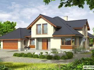 Projekt domu Naomi G2 : styl , w kategorii Domy zaprojektowany przez Pracownia Projektowa ARCHIPELAG,Nowoczesny