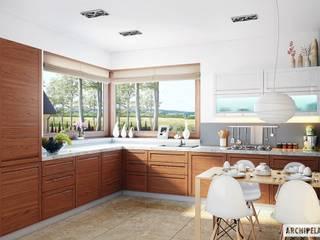 Projekt domu Naomi G2 : styl , w kategorii Kuchnia zaprojektowany przez Pracownia Projektowa ARCHIPELAG,Nowoczesny